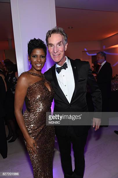 EVENTS White House Correspondents' Dinner MSNBC AfterParty Pictured NBC News' MSNBC's Tamron Hall Science educator Bill Nye