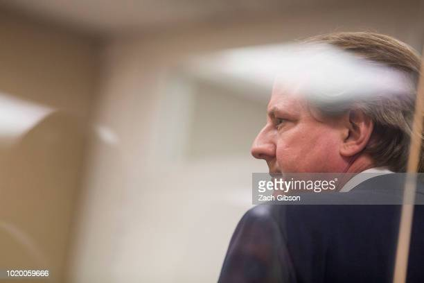 White House counsel Don McGahn escorts Supreme Court Justice nominee Judge Brett Kavanaugh to a meeting with Sen Dianne Feinstein on Capitol Hill on...