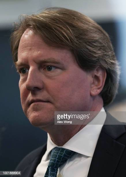 White House counsel Don McGahn is seen piror to a meeting between US Sen Dean Heller and Supreme Court nominee Judge Brett Kavanaugh on Capitol Hill...