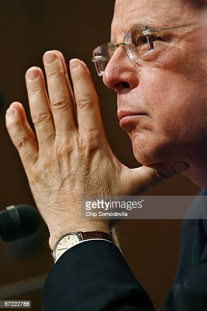 White House Counsel to President Richard Nixon John Dean testifies before the Senate Judiciary Committee at the invitation of Sen Russell Feingold on...