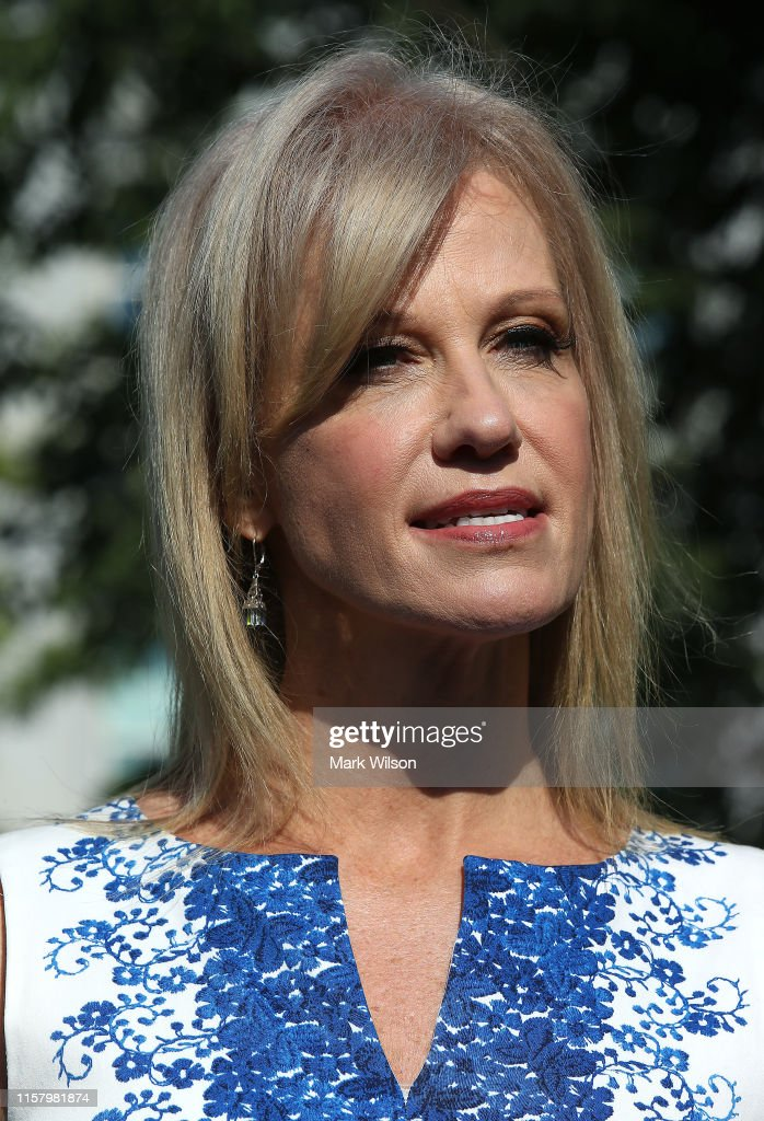 Kellyanne Conway Speaks To The Press At The White House : News Photo