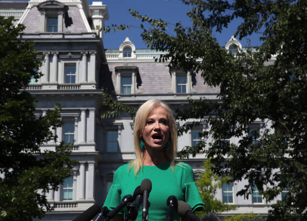 DC: White House Advisor Kellyanne Conway Speaks To The Media At The White House