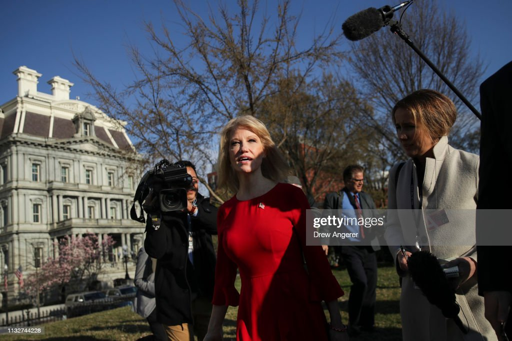 DC: Sarah Sanders And Kellyanne Conway Address Media At The White House