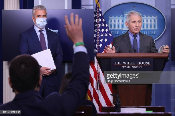 White House COVID-19 Response Coordinator Jeff Zients and Director of the National Institute of Allergy and Infectious Diseases Dr. Anthony Fauci...