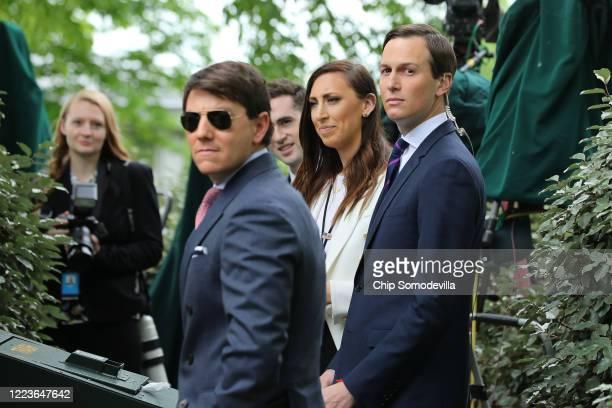 White House Deputy Press Secretary Hogan Gidley, Assistant to the President and Special Representative for International Negotiations Avi Berkowitz,...