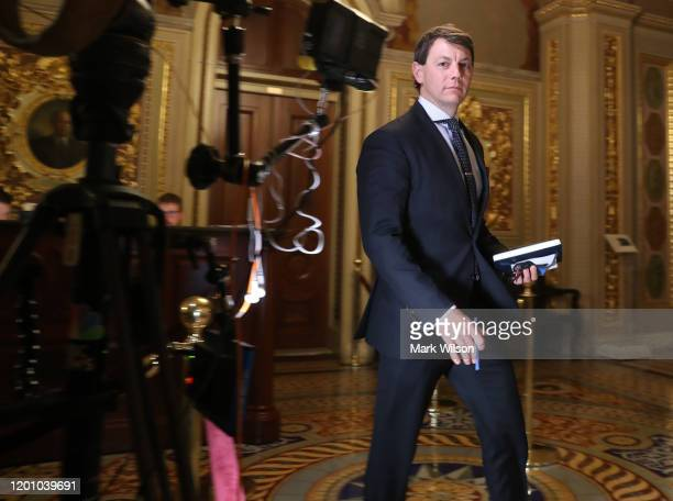 White House Deputy Press Secretary Hogan Gidley walks to the Senate Chamber where President Donald Trumps impeachment trial is in progress US Capitol...