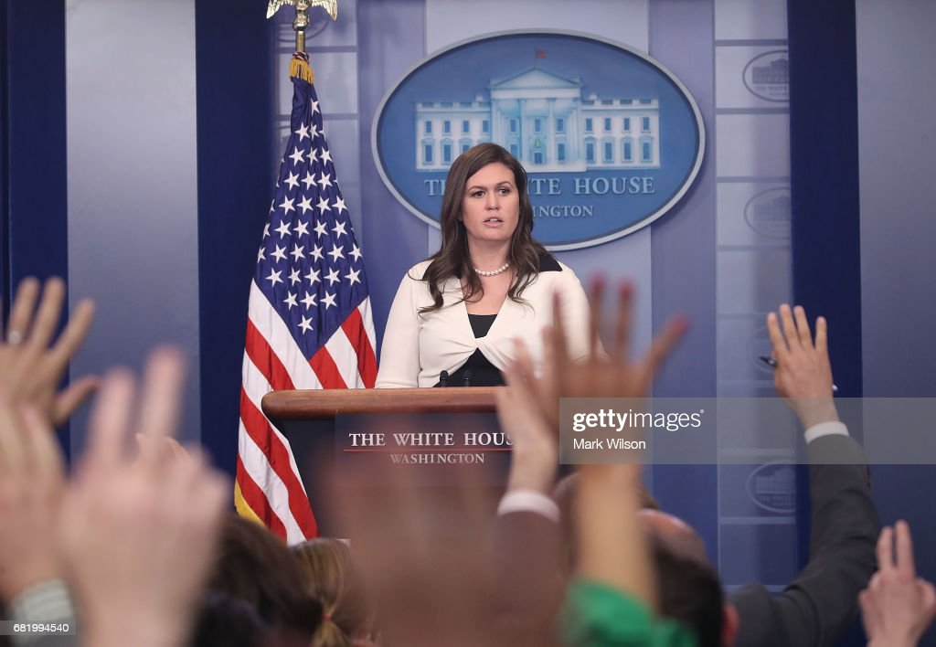 White House deputy press secretary Sarah Huckabee Sanders, speaks during press briefing on May 11, 2017 in Washington, DC. Sanders fielded questions about President Trump's firing of FBI Director James Comey.
