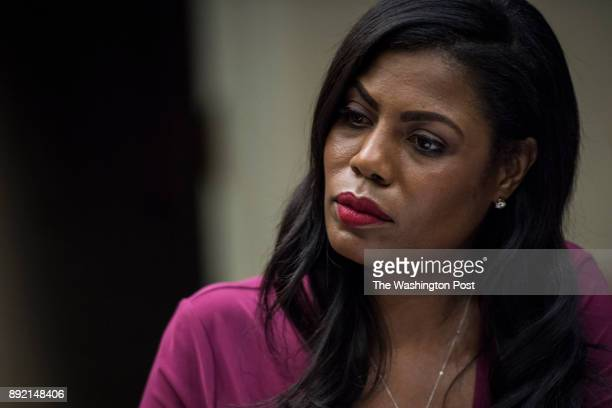 White House Director of communications for the Office of Public Liaison Omarosa Manigault listens as Health and Human Services Secretary Tom Price...