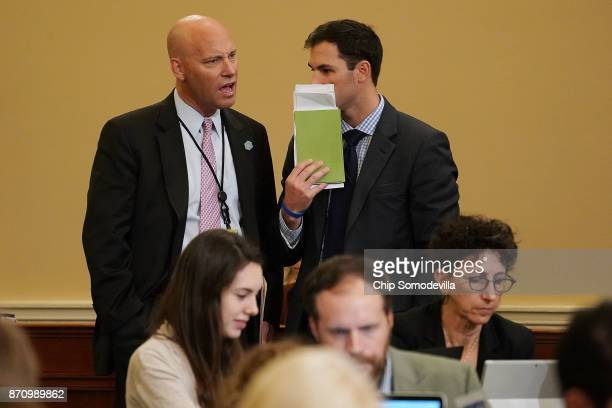 White House Director of Legislative Affairs Marc Short attends the House Ways and Means Committee markup of the proposed GOP tax reform legislation...