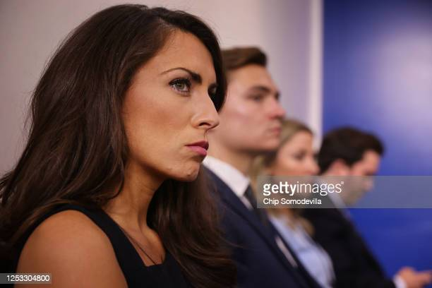White House Director of Strategic Communications Alyssa Farah attends a news conference in the Brady Press Briefing room at the White House June 29,...