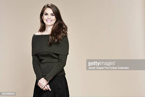 White House Director of Strategic Communications, Hope Hicks is photographed for Forbes Magazine on November 29, 2016 in New York City. PUBLISHED...