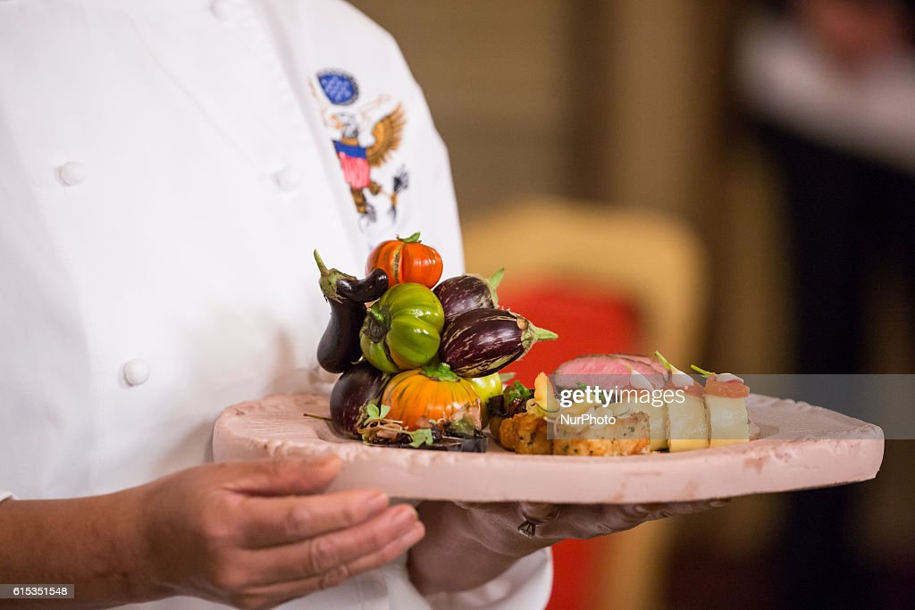 Press preview State Dinner in honor of the Official Visit of PM Renzi : News Photo