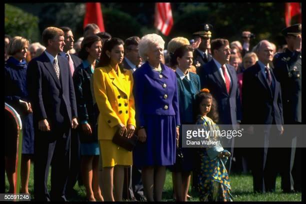 Scowcroft Sununu Princesses Squkania Zinais Barbara Bush Lalla Meryam Marilyn Dan Quayle 1991