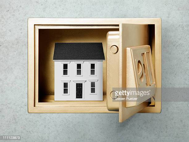 White house in gold safe