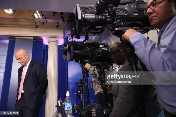 White House Legislative Affairs Director Marc Short holds a news conference about the ongoing partial shutdown of the federal government at the White...