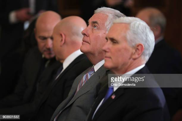White House National Economic Council Director Gary Cohn National Security Advisor HR McMaster Secretary of State Rex Tillerson and Vice President...