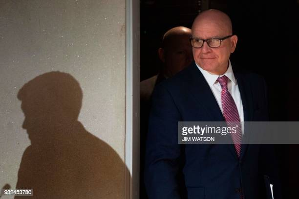 White House National Security Adviser HR McMaster arrives to deliver the keynote remarks during a discussion on 'Syria Is the Worst Yet to Come' in...