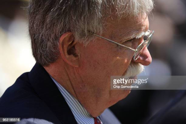 White House National Security Advisor John Bolton attends a joint news conference with President Donald Trump and Nigerian President Muhammadu Buhari...