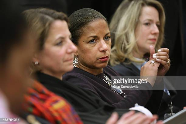 White House National Security Advisor Susan Rice attends the White House Summit on Countering Violent Extremism in the Eisenhower Executive Office...