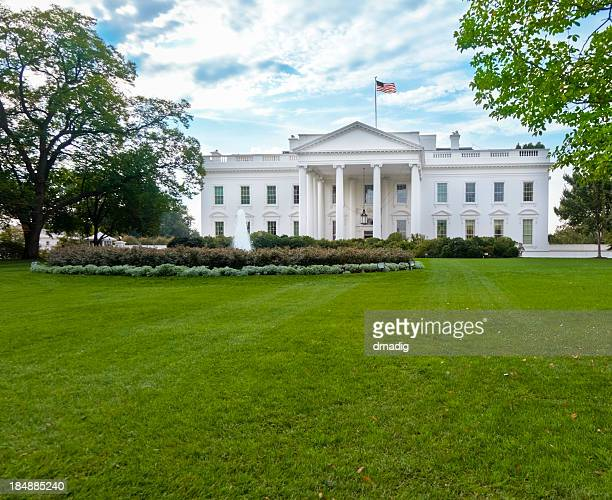 White House North Facade Under Magnificent Sky