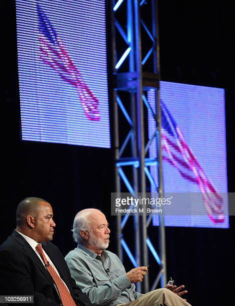 White house photographers Eric Draper and David Hume Kennerly of television show The President's Photographers A National Geographic Special speak...