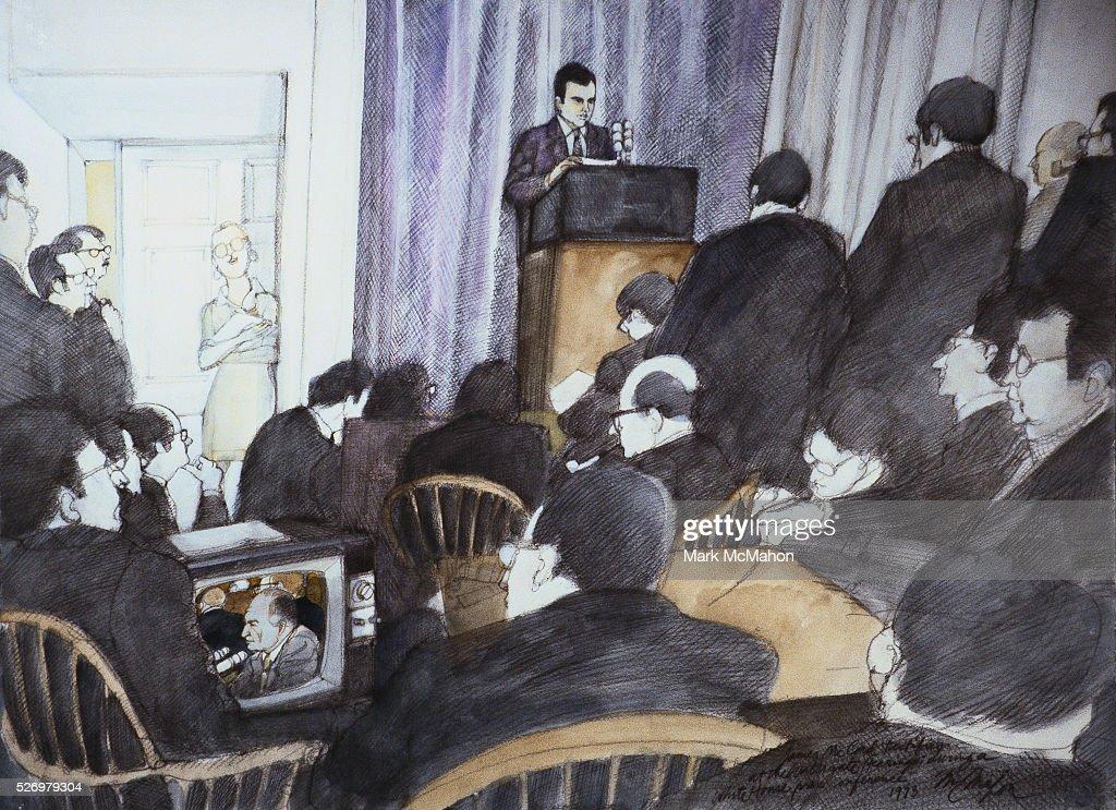 white house press room ronald ziegler nixon press secretary with