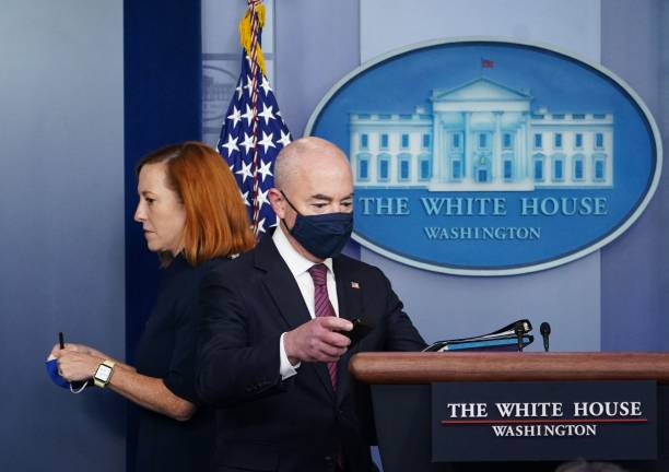 DC: Homeland Security Alejandro Mayorkas Speaks At Daily White House Press Briefing