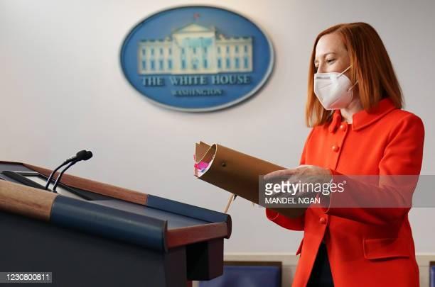 DC: White House Press Secretary Jen Psaki And Domestic Policy Advisor Susan Rice Hold Briefing