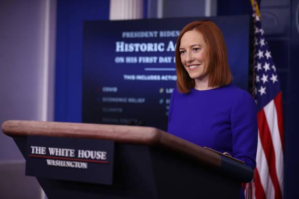 DC: White House Press Secretary Jen Psaki Holds News Briefing On President's Biden Inauguration Day