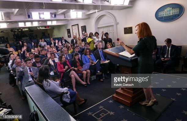White House Press Secretary Jen Psaki holds a press briefing at the White House on June 23, 2021 in Washington, DC. Psaki spoke on crime, gun...