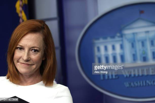 White House Press Secretary Jen Psaki speaks during a daily press briefing at the James S. Brady Press Briefing Room of the White House September 22,...