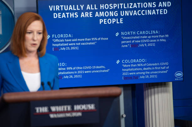 DC: Jen Psaki Holds Daily White House Press Briefing