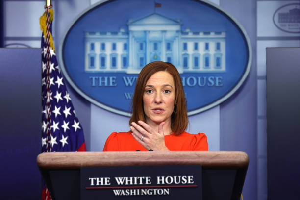 DC: White House Press Secretary Jen Psaki Holds News Briefing At White House