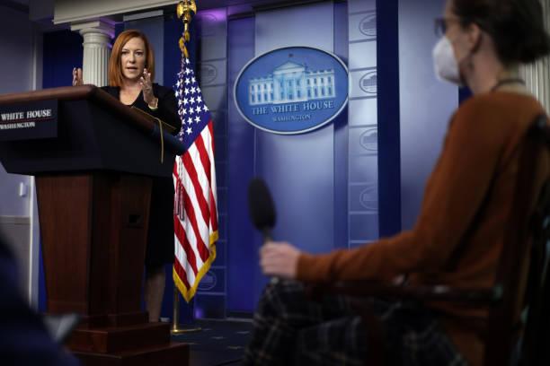DC: Jen Psaki Briefs White House Media