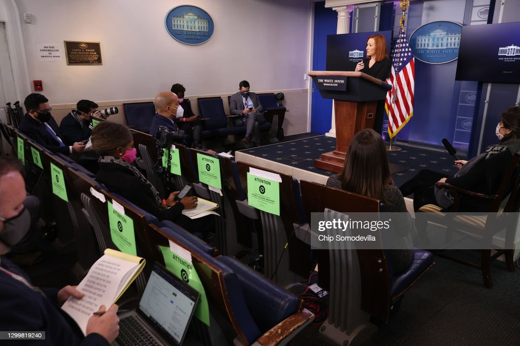 White House Press Secretary Jen Psaki Holds Media Briefing At White House : ニュース写真