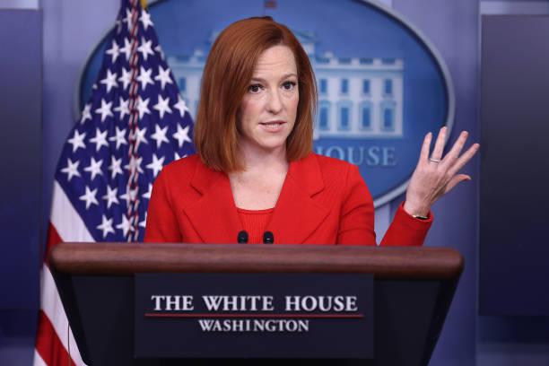 DC: Press Secretary Jen Psaki Briefs Media In Daily News Conference