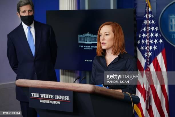 DC: Press Secretary Jen Psaki And Climate Change Advisors Hold White House Press Briefing