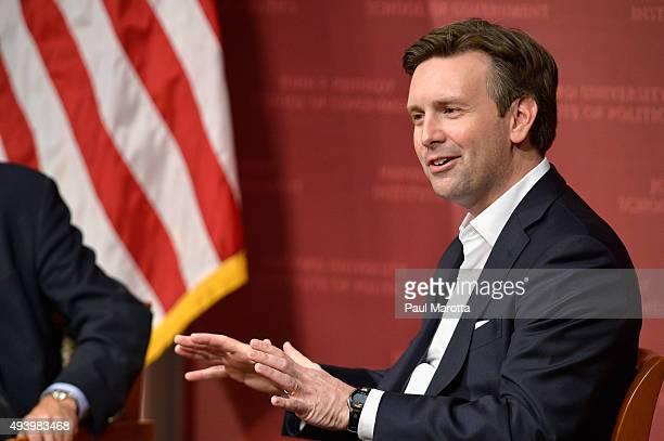 White House Press Secretary Joshua Earnest speaks at the Harvard University John F Kennedy School of Government Institute of Politics John F Kennedy...