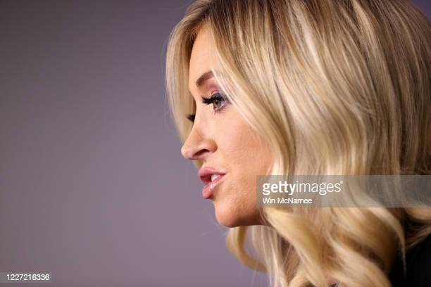 White House press secretary Kayleigh McEnany answers questions during the daily briefing at the White House on May 26, 2020 in Washington, DC....