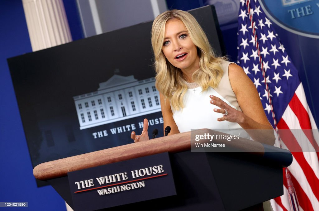 White House Press Secretary Kayleigh McEnany Holds Briefing At White House : News Photo