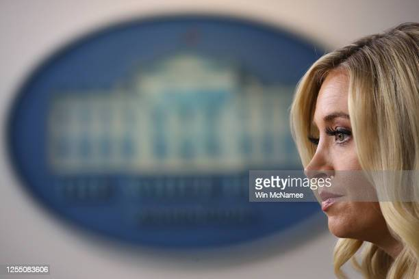 White House press secretary Kayleigh McEnany answers questions during a press briefing at the White House on July 8 2020 in Washington DC McEnany...