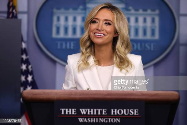 White House Press Secretary Kayleigh McEnany conducts a news conference in the Brady Press Briefing Room at the White House May 06 2020 in Washington...