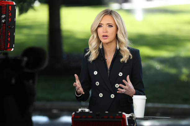 DC: Press Secretary Kayleigh McEnany Does Fox News Interview At White House