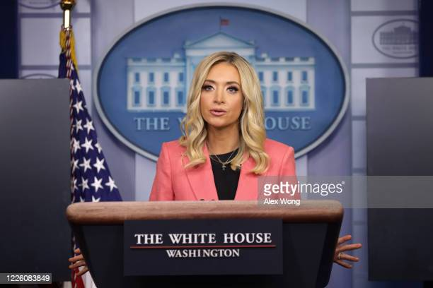 White House Press Secretary Kayleigh McEnany speaks during a news briefing in the James Brady Press Briefing Room of the White House May 20, 2020 in...