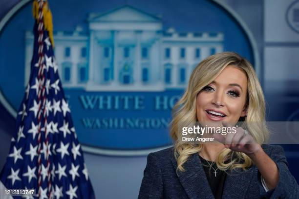 White House Press Secretary Kayleigh McEnany speaks during a press briefing at the White House on May 12 2020 in Washington DC Later on Tuesday...