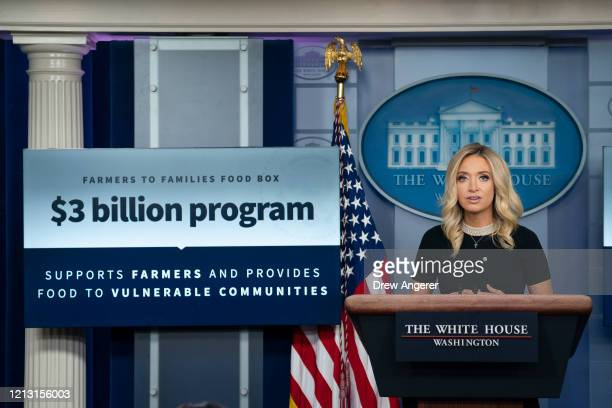White House Press Secretary Kayleigh McEnany speaks during a press briefing at White House on May 15 2020 in Washington DC