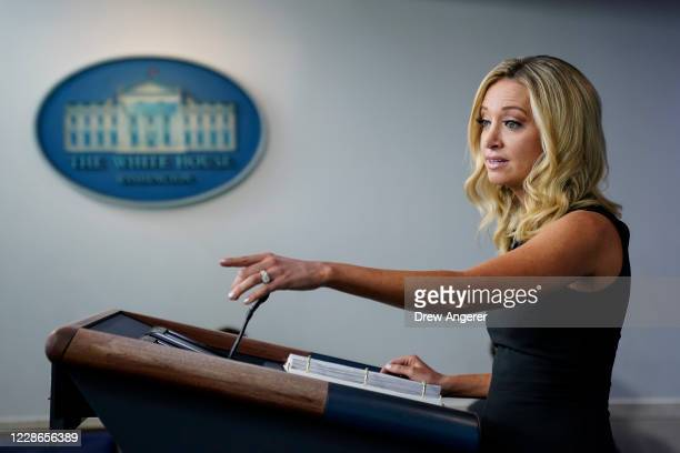 White House Press Secretary Kayleigh McEnany speaks during a press briefing at the White House on September 22, 2020 in Washington, DC. On Tuesday...