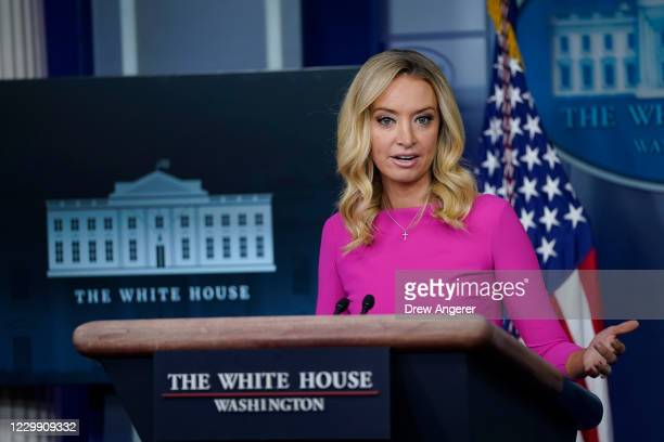 White House Press Secretary Kayleigh McEnany speaks during a press briefing at the White House on December 2, 2020 in Washington, DC. McEnany fielded...
