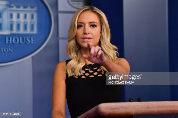 White House Press Secretary Kayleigh McEnany speaks to the press on June 19 in the Brady Briefing Room of the White House in Washington, DC.