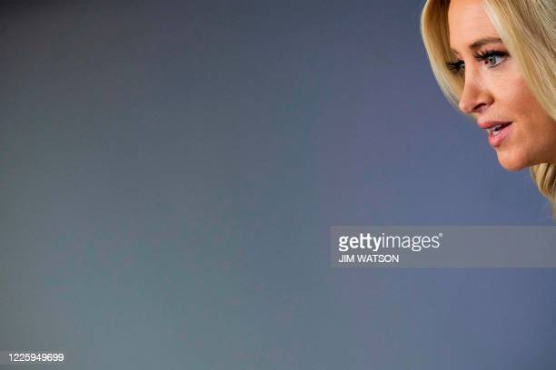 White House Press Secretary Kayleigh McEnany speaks to the press on July 9 in the Brady Briefing Room of the White House in Washington DC